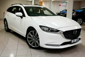 2018 Mazda 6 GL1032 Atenza SKYACTIV-Drive Snowflake White Pearl 6 Speed Sports Automatic Wagon South Melbourne Port Phillip Preview