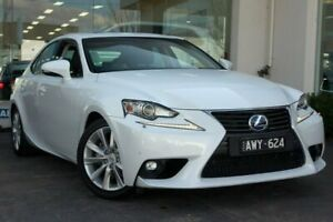 2015 Lexus IS300H AVE30R Luxury White 1 Speed Constant Variable Sedan Hybrid Doncaster Manningham Area Preview