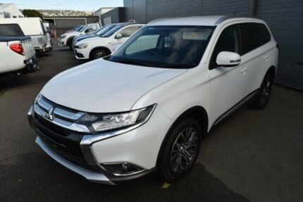 2016 Mitsubishi Outlander ZK MY16 LS 4WD White 6 Speed Constant Variable Wagon Cooee Burnie Area Preview
