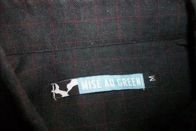 Chemise  manches longues chaude coton noir carreaux rouge mise au green  m /40