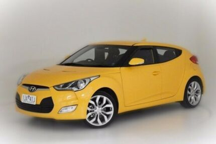 2013 Hyundai Veloster FS2 Coupe Yellow 6 Speed Manual Hatchback Narre Warren Casey Area Preview