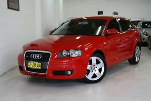 2007 Audi A3 8P Ambition Sportback Quattro Red 6 Speed Manual Hatchback Castle Hill The Hills District Preview