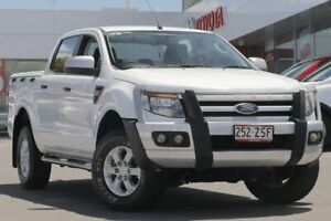 2015 Ford Ranger PX XLS Double Cab White 6 Speed Manual Utility Woolloongabba Brisbane South West Preview