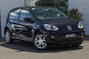 2012 Volkswagen UP! Type AA MY13 Black 5 Speed Manual Hatchback Kirrawee Sutherland Area Preview