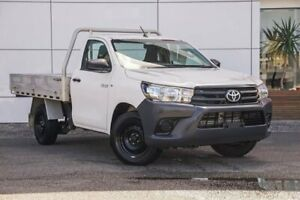 2017 Toyota Hilux GUN122R Workmate 4x2 White 5 Speed Manual Cab Chassis Tweed Heads South Tweed Heads Area Preview