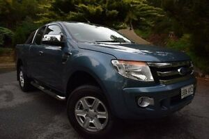 2013 Ford Ranger PX XLT Super Cab Blue 6 Speed Manual Utility St Marys Mitcham Area Preview