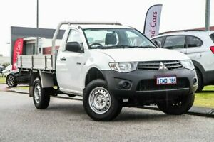 2014 Mitsubishi Triton MN MY15 GL 4x2 White 5 Speed Manual Cab Chassis Rockingham Rockingham Area Preview