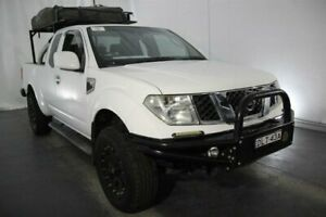 2010 Nissan Navara D40 ST-X King Cab White 6 Speed Manual Cab Chassis Maryville Newcastle Area Preview