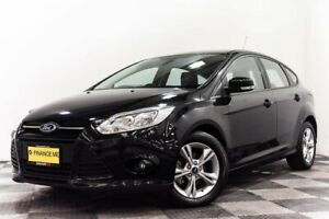 2015 Ford Focus LW MkII MY14 Trend PwrShift Black 6 Speed Sports Automatic Dual Clutch Hatchback