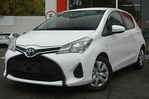 2014 Toyota Yaris NCP130R YR White 4 Speed Automatic Hatchback Upper Ferntree Gully Knox Area Preview