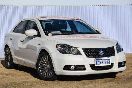 2012 Suzuki Kizashi FR MY11 Prestige White 6 Speed Constant Variable Sedan Morley Bayswater Area Preview