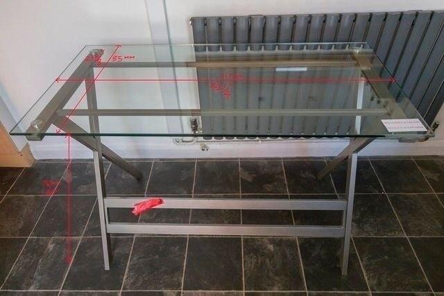 Toughened Glass Computer Desk