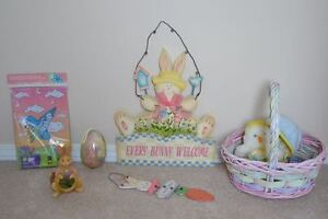 EASTER Items: Easter Basket, Bunny Welcome Sign & More