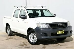 2011 Toyota Hilux TGN16R MY12 Workmate Double Cab 4x2 White 5 Speed Manual Utility Liverpool Liverpool Area Preview