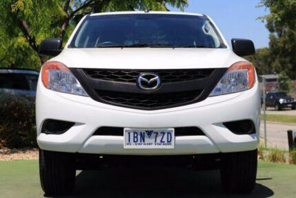 2012 Mazda BT-50 UP0YF1 XT 4x2 Hi-Rider White 6 Speed Sports Automatic Utility