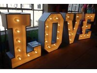 Giant light up LOVE letters for hire - £100