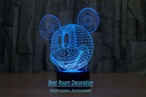3D  Mickey Mouse lamp 100% NEW