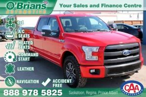 2015 Ford F-150 Lariat - Accident Free w/Nav, Leather