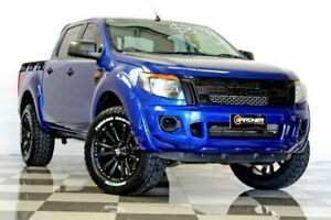 2014 Ford Ranger PX XL 2.2 (4x4) Blue 6 Speed Automatic Crew Cab Utility Burleigh Heads Gold Coast South Preview