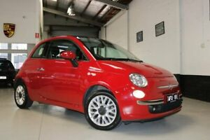 2015 Fiat 500C Series 3 Lounge Dualogic Red 5 Speed Sports Automatic Single Clutch Convertible West Melbourne Melbourne City Preview