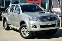2012 Toyota Hilux  Silver Manual Utility Thornleigh Hornsby Area Preview