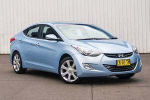 2012 Hyundai Elantra MD Premium Blue 6 Speed Sports Automatic Sedan Kings Park Blacktown Area Preview