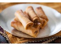 Halal Food Freshly homemade crispy Spring Rolls Takeaway/frozen/freshly fried/ Wedding catering