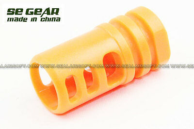 SE Orange Plastic Type 2 Flash Hider For 14mm CW Barrel Thread - Flash Hider Type