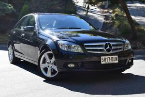 2011 Mercedes-Benz C200 W204 MY11 BlueEFFICIENCY 7G-Tronic + Black 7 Speed Sports Automatic Sedan St Marys Mitcham Area Preview