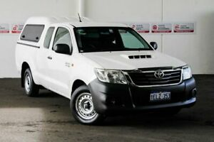 2014 Toyota Hilux KUN16R MY14 SR Glacier White 5 Speed Manual X Cab Pickup Rockingham Rockingham Area Preview