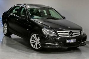 2011 Mercedes-Benz C-Class W204 C200 BlueEFFICIENCY Black Sports Automatic South Morang Whittlesea Area Preview