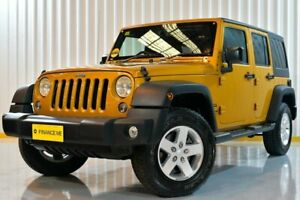 2014 Jeep Wrangler JK MY2015 Unlimited Sport Gold 6 Speed Manual Softtop Hendra Brisbane North East Preview