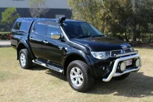 2011 Mitsubishi Triton MN MY12 GLX-R Double Cab Black 5 Speed Sports Automatic Utility Ormeau Gold Coast North Preview