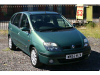 Renault Scenic 1.8 (Cheap family car with MOT and towbar)