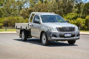 2012 Toyota Hilux TGN16R MY12 Workmate 4x2 Silver 5 Speed Manual Cab Chassis Cannington Canning Area Preview