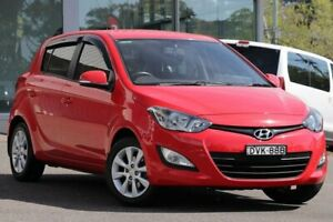 2014 Hyundai i20 PB MY14 Elite Red 4 Speed Automatic Hatchback Wyong Wyong Area Preview