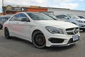 2014 Mercedes-Benz CLA45 C117 AMG SPEEDSHIFT DCT 4MATIC White 7 Speed Sports Automatic Dual Clutch Rockingham Rockingham Area Preview