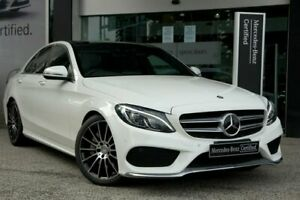 2015 Mercedes-Benz C-Class W205 806MY C250 7G-Tronic + White 7 Speed Sports Automatic Sedan South Melbourne Port Phillip Preview