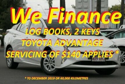 2016 Toyota Prius ZVW50R Crystal Pearl 1 Speed Constant Variable Liftback Hybrid