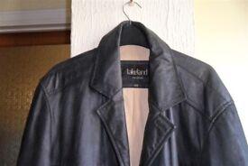 Gent's leather coat