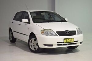 2003 Toyota Corolla ZZE122R Ascent White 5 Speed Manual Hatchback Wadalba Wyong Area Preview