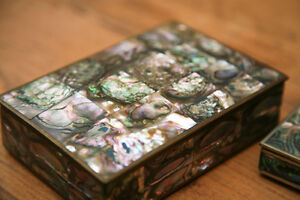 Mexican Silver Mother of Pearl boxes Peterborough Peterborough Area image 9