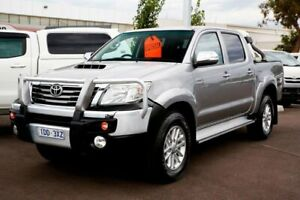 2015 Toyota Hilux KUN26R MY14 SR5 Double Cab Silver 5 Speed Manual Utility Mill Park Whittlesea Area Preview