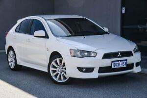 2011 Mitsubishi Lancer CJ MY11 VR-X Sportback White 6 Speed Constant Variable Hatchback Osborne Park Stirling Area Preview