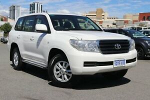 2012 Toyota Landcruiser UZJ200R MY10 GXL White 5 Speed Sports Automatic Wagon Northbridge Perth City Area Preview