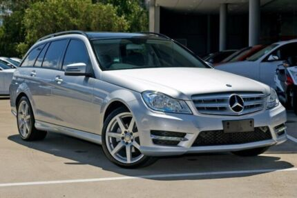 2014 Mercedes-Benz C200 W204 MY14 Estate 7G-Tronic + Silver 7 Speed Sports Automatic Wagon Artarmon Willoughby Area Preview
