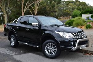2015 Mitsubishi Triton MQ MY16 GLS Double Cab Black 6 Speed Manual Utility St Marys Mitcham Area Preview