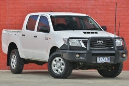 2013 Toyota Hilux KUN26R MY12 SR Double Cab White 5 Speed Manual Utility Pakenham Cardinia Area Preview