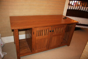 Solid Oak Cabinet - Audio Equipment not included
