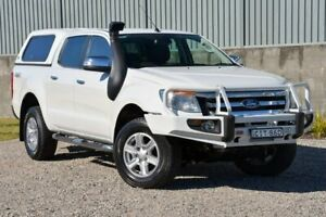 2012 Ford Ranger PX XLT Double Cab White 6 Speed Manual Utility Wyong Wyong Area Preview